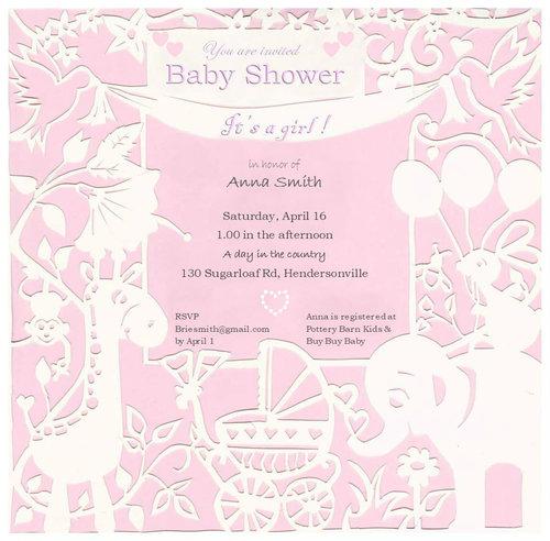 baby shower invitations - Joyful Nature by Minu Thickitt