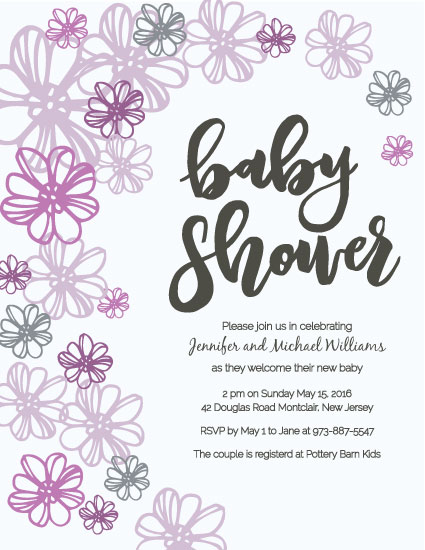 baby shower invitations - Little Lavender by Alyson Fraser