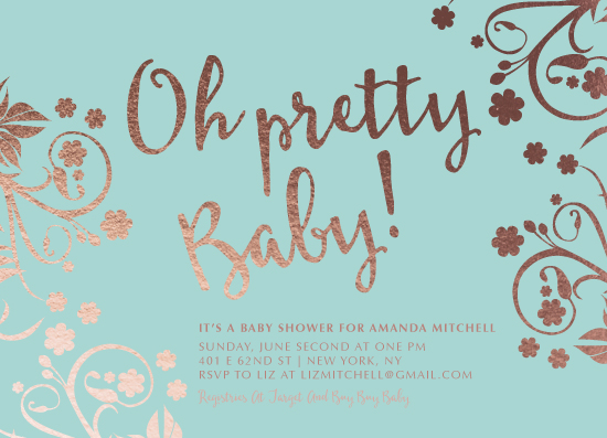 baby shower invitations - Oh Pretty Baby by Thoroughly Curly Designs