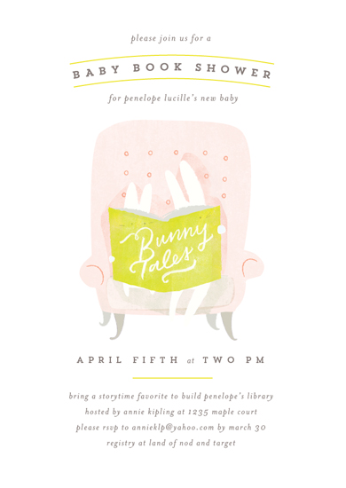 baby shower invitations - Bunny Tales by Lori Wemple