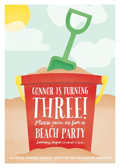 birthday party invitations - Hit the Beach by Erica Krystek