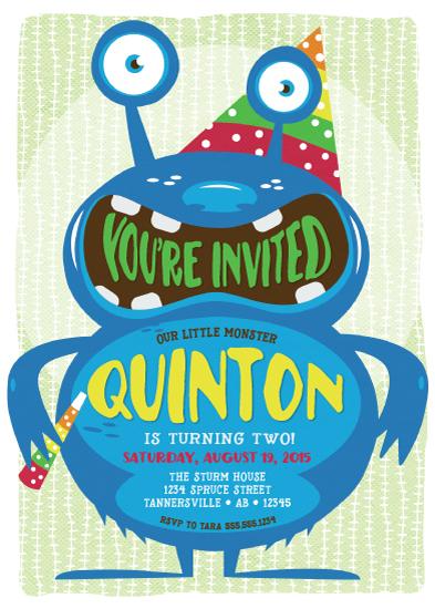 birthday party invitations - Fun Monster Bash by Tara Sturm