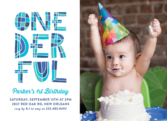birthday party invitations - Onederful by Chasity Smith
