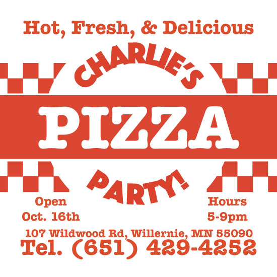 birthday party invitations - Pizza Party by Lakeside Handmade