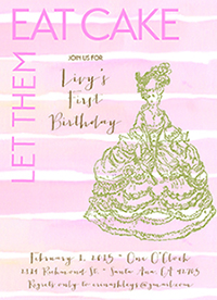 birthday party invitations - Let Them Eat Cake! by Annie Taylor