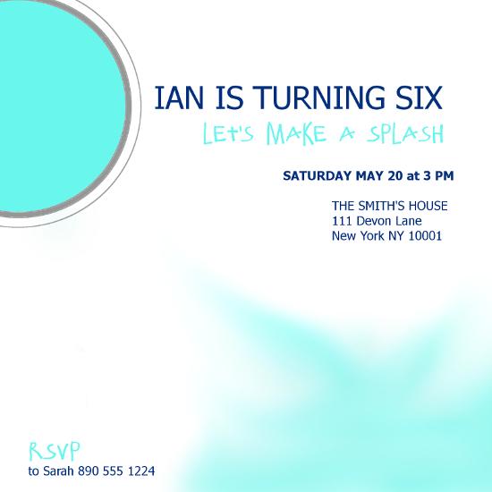 birthday party invitations - Make A Splash by Jane CoCo Cowles