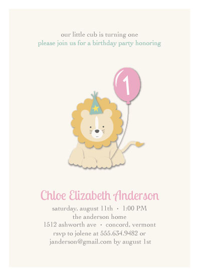 birthday party invitations - Little Cub by Shannon Mayhew