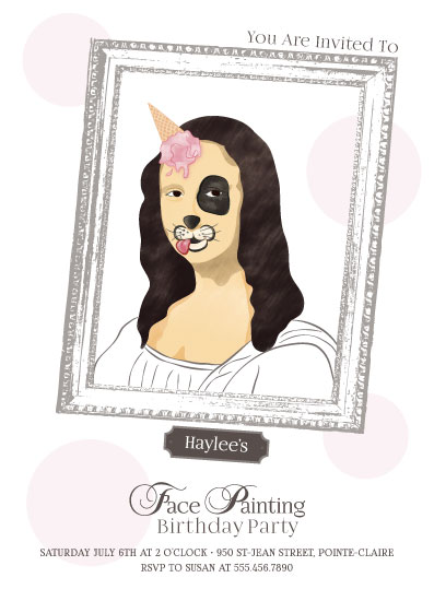 birthday party invitations - Fancy Face Painting... Party by Agi Szabo
