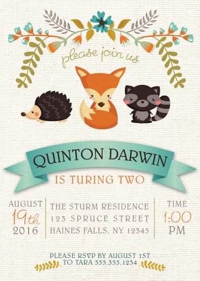 birthday party invitations - Woodland Friends by Tara Sturm