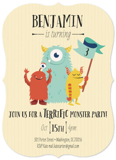 birthday party invitations - Monster Party by Alice Galeotti