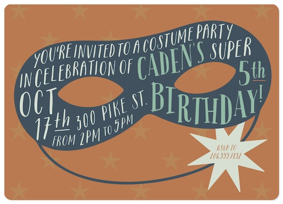 birthday party invitations - Scout by Marabou Design
