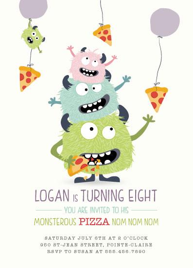 birthday party invitations - Nom Nom Nom by Agi Szabo