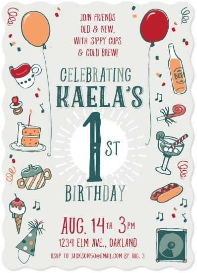 birthday party invitations - Birthday Doodles by Sara Christian