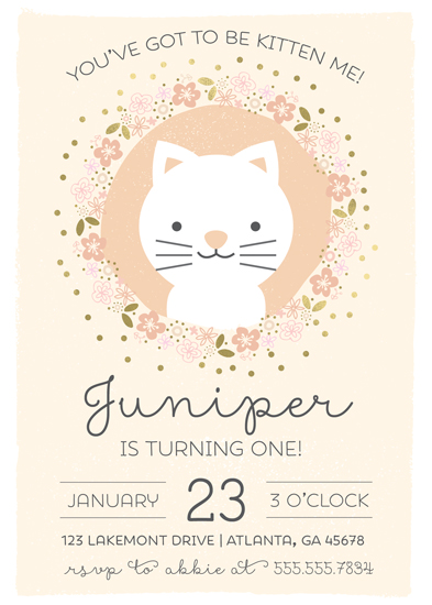 Birthday party invitations youve got to be kitten me at minted birthday party invitations youve got to be kitten me by kacey floyd filmwisefo Image collections