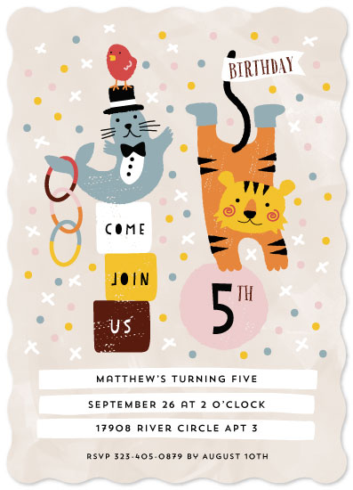 birthday party invitations - Fun Circus by iamtanya