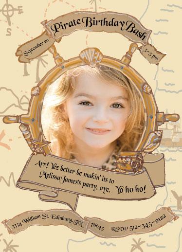 birthday party invitations - Pirate Birthday Bash Girl by Mandy Wilson