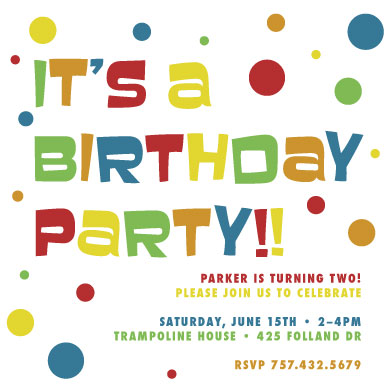 birthday party invitations - BIRTHDAY DOTS by Nicholas Leija