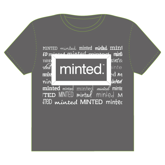 minted t-shirt design - Fonts Aplenty by Kathleen Petit