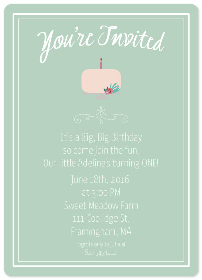 birthday party invitations - Floral Cake by Hollie Shepard