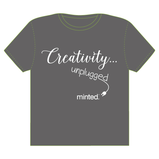 minted t-shirt design - Creativity Unplugged by Kathleen Petit