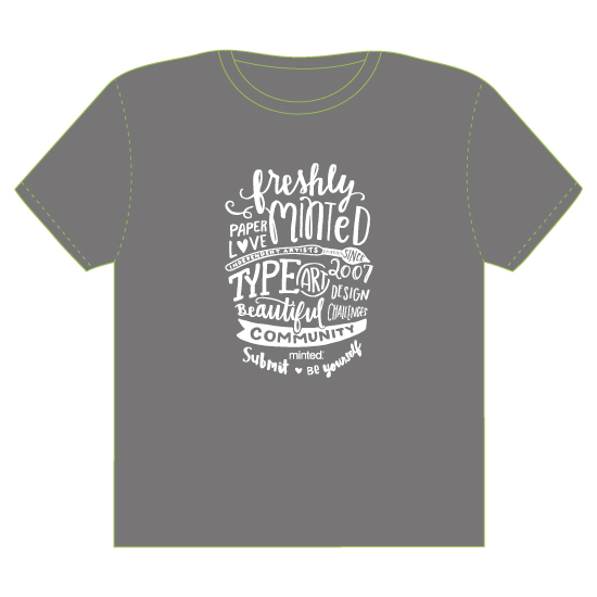 minted t-shirt design - Hand-Lettered Minted Love by Lisa Weber