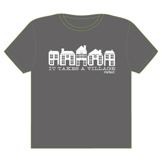 minted t-shirt design - It take a village by Anastasia B. Kijewski