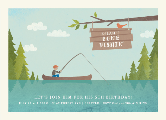 birthday party invitations - gone fishin' by Karidy Walker
