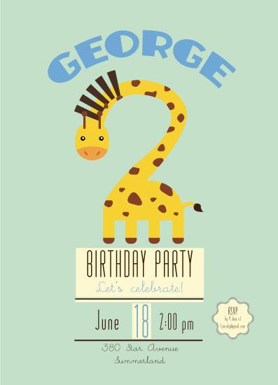 birthday party invitations - Two Much Fun by Juliana Motzko
