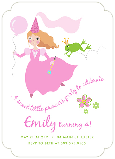 birthday party invitations - Sweet Princess by Valerie Hart