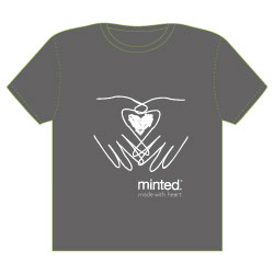 minted t-shirt design - Made with Heart by Grace Chen