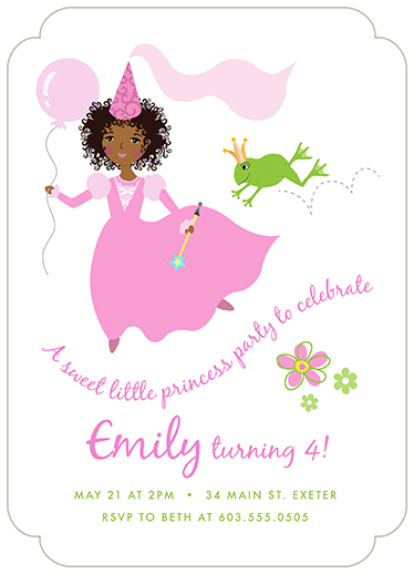 birthday party invitations - Sweet Princess #2 by Valerie Hart