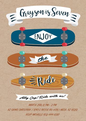 birthday party invitations - Enjoy the Ride by Rhiannon Davenport