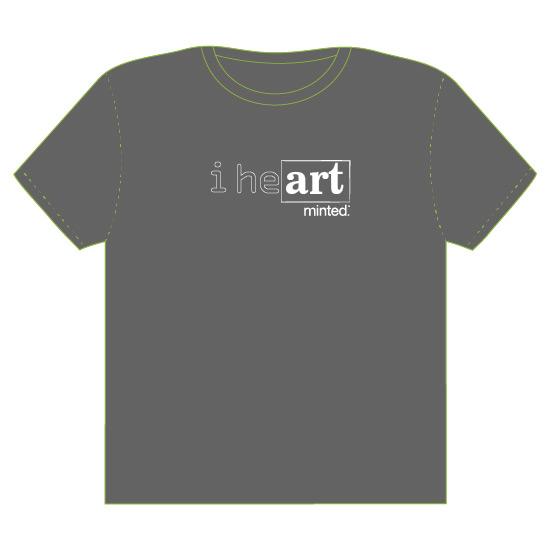 minted t-shirt design - I heART by Rushmi