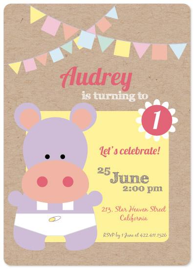 birthday party invitations - Sweet Celebration by Juliana Motzko