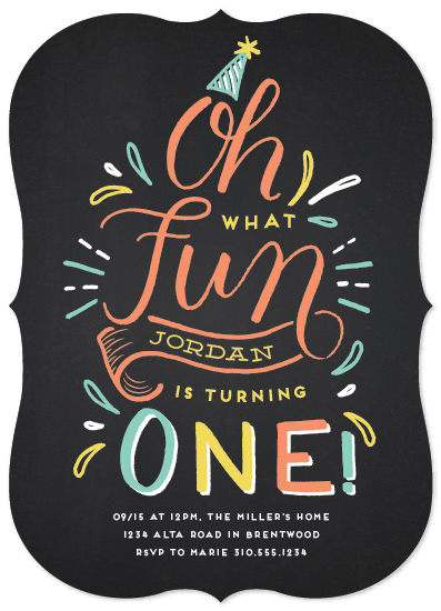 birthday party invitations - One Is Fun by Leah Bisch