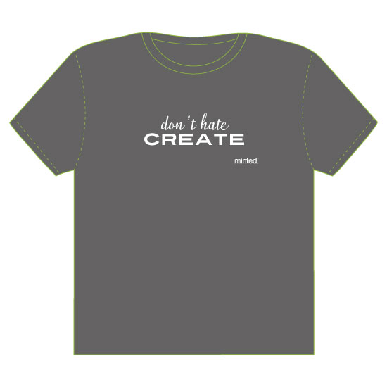 minted t-shirt design - I Create by Melissa Alexander