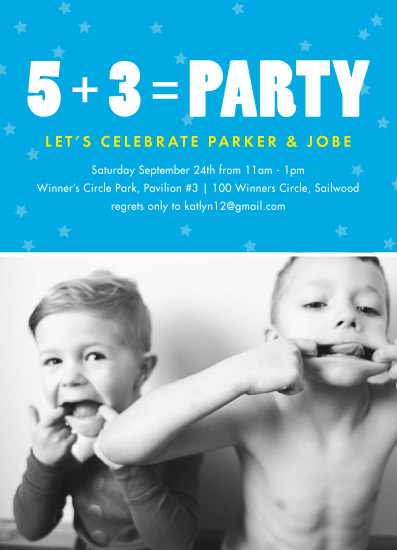 birthday party invitations - Two equals Party by Loren Willis