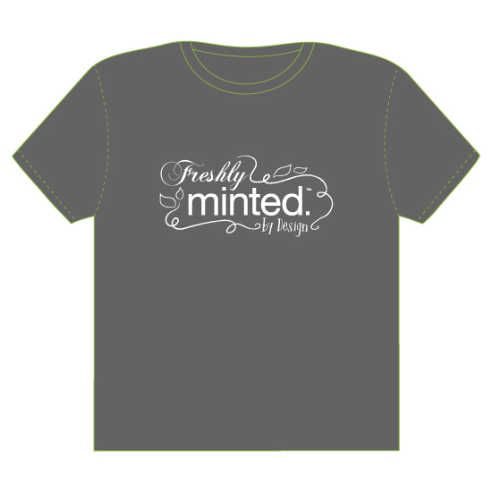 minted t-shirt design - Freshly MInted by Design by Karen Ciocca