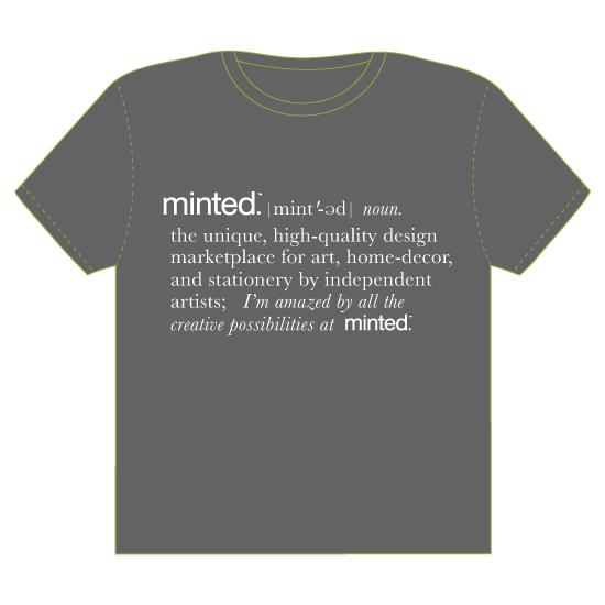 minted t-shirt design - Define Minted by Kathleen Petit