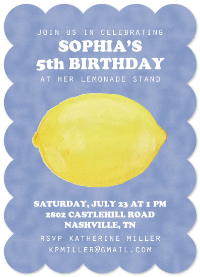 birthday party invitations - Lemonade Celebration by Lindsey Kelly
