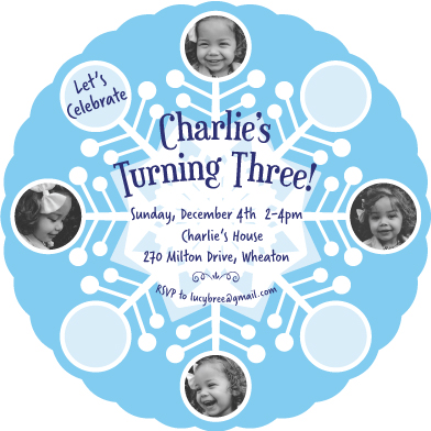 birthday party invitations - Winter Magic by Kathleen Petit