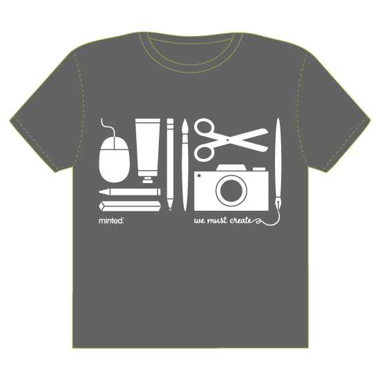 minted t-shirt design - we must create by Moy Creative