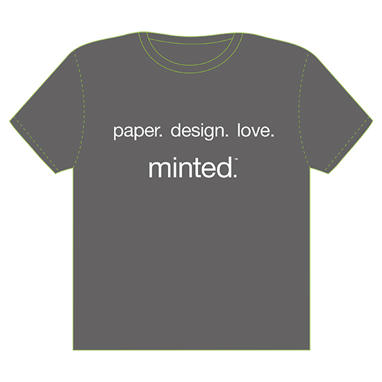 minted t-shirt design - paper. design. love. by Valerie Hart