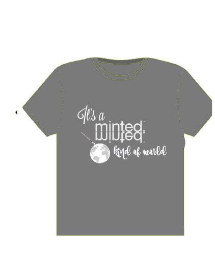minted t-shirt design - it's a minted world by Deborah McClain