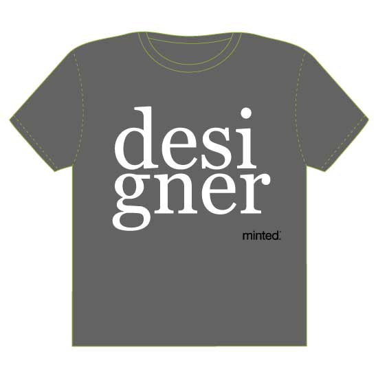 minted t-shirt design - designer type by Studio 1.8 Art and Design