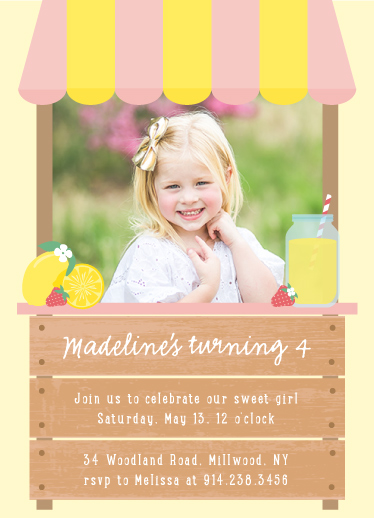 birthday party invitations - Lemonade stand by Annie Holmquist