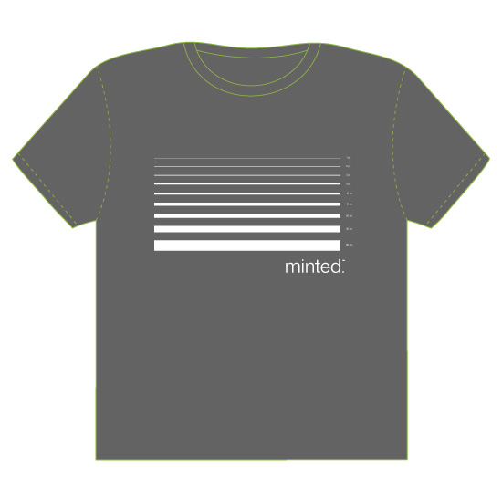 minted t-shirt design - the line up by Taylor Jane