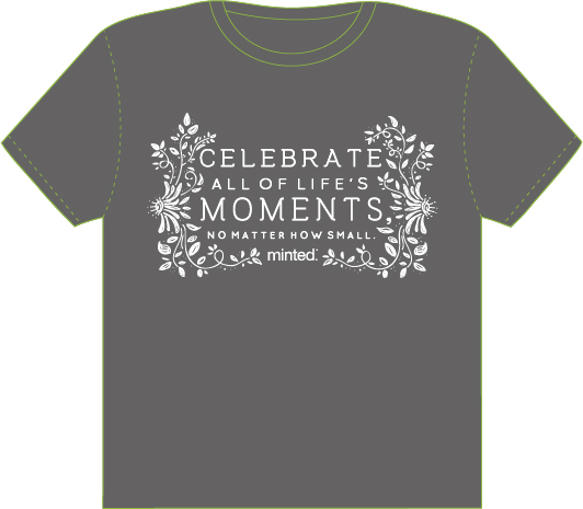 minted t-shirt design - Celebrate the Small by Julia Wolfrom