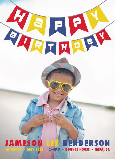 birthday party invitations - Birthday Banner by Nicholas Leija