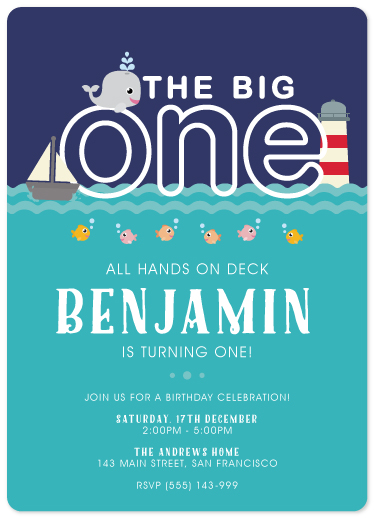 birthday party invitations - Little Mariner by jellyjollyho